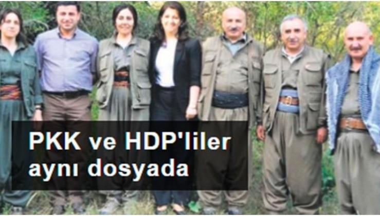 PKK ve HDP'liler aynı dosyada