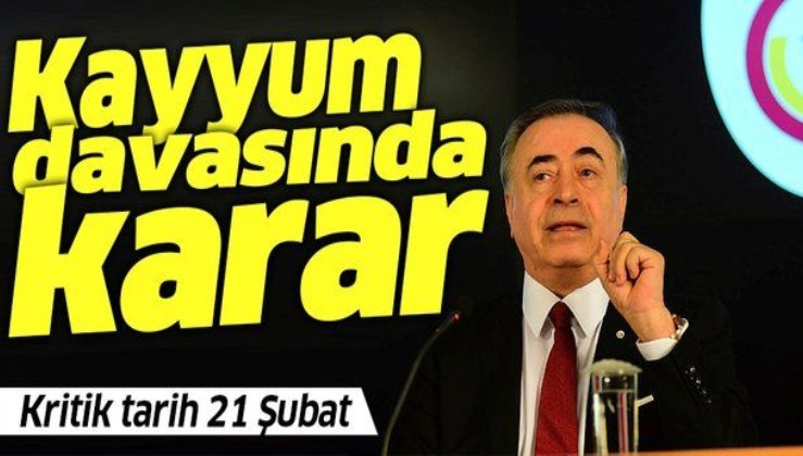 Son dakika: Galatasaray'a kayyum davasında karar