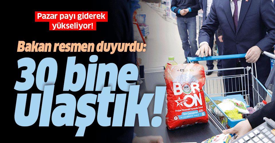 Bakan Fatih Dönmez açıkladı: BORON'da 30 bin ton satış rakamına ulaşıldı.