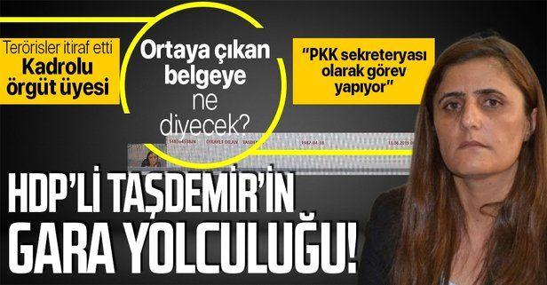 """Gara'ya giden HDP'li Dirayet Dilan Taşdemir'in Diyarbakır'dan havayolu ile Erbil'e """"çıkış"""" kaydı olduğu ortaya çıktı!"""