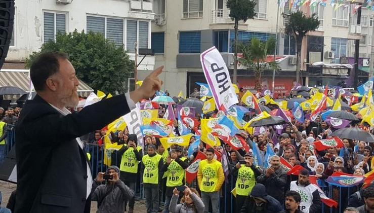 HDP Eş Başkanı Temelli, miting kürsüsünden Öcalan'a selam gönderdi!