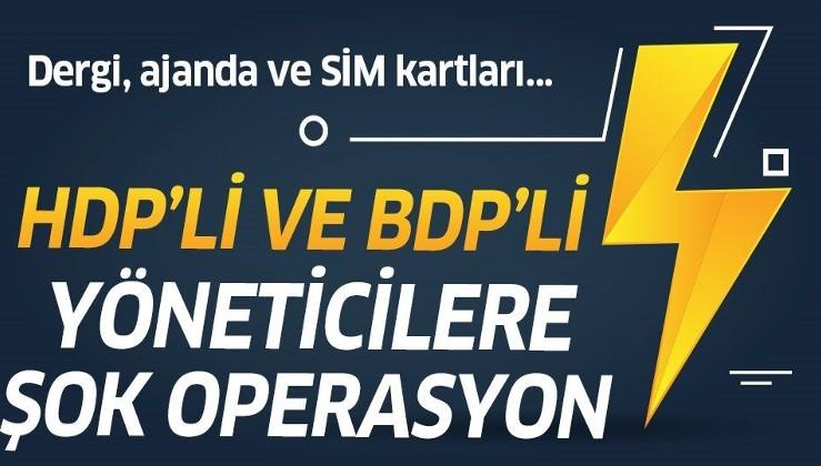 Son dakika: Diyarbakır'da terör operasyonu! HDP ve BDP'li isimler gözaltında