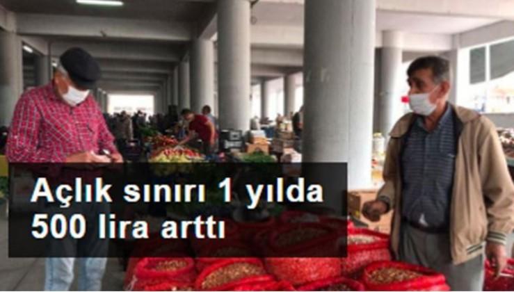 Açlık sınırı 1 yılda 500 lira arttı
