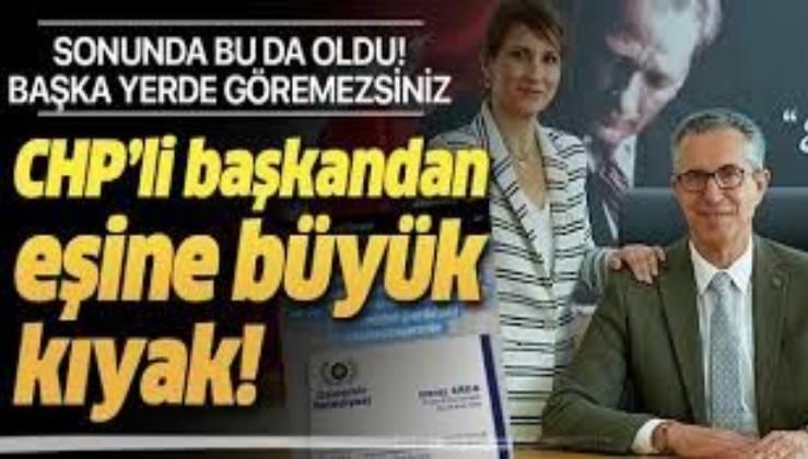 Sonunda bu da oldu: CHP'li Gaziemir Belediyesi Başkanı Halil Arda eşini 'Onursal Koordinatör' ilan etti!