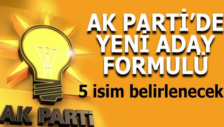 AK Parti'den yeni formül: 5 isim belirlenecek