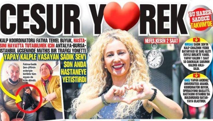 Kalp Koordinatörü Fatma Temel Büyük'ten dev operasyon: Hastası için Antalya- Bursa- İstanbul trafiğini yönetti