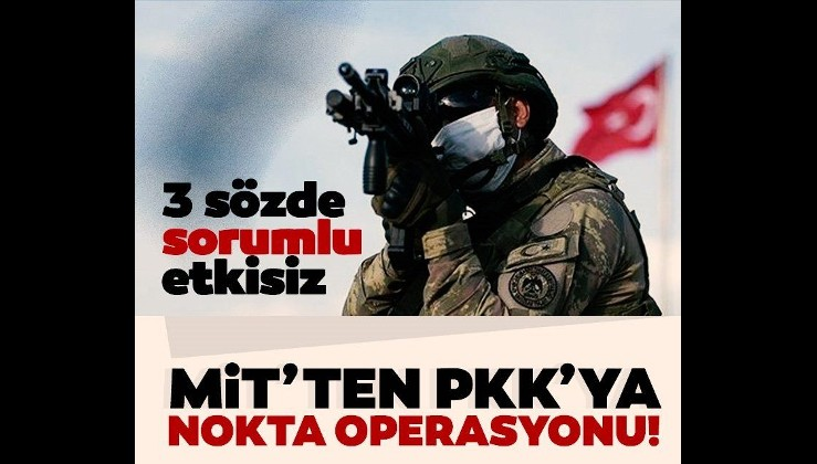 SON DAKİKA: Kuzey Irak'a operasyon! Gara Kandil ve Sincar'da PKK'nın 3 sorumlusu öldürüldü