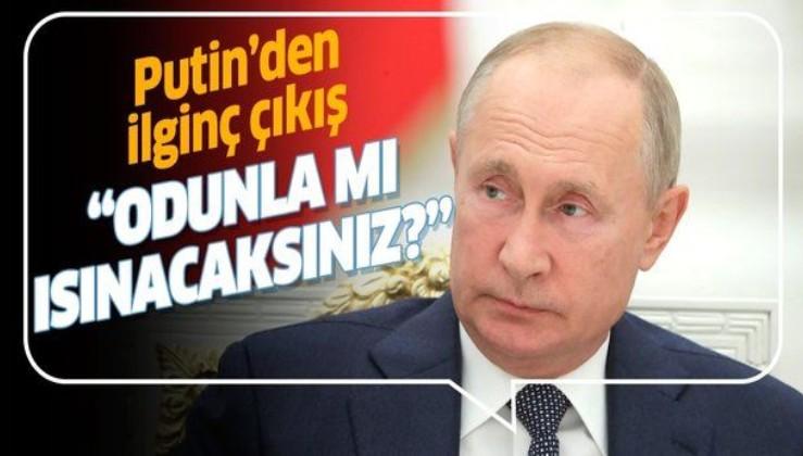 Rusya Devlet Başkanı Putin'den dikkat çeken nükleer santral çıkışı: ''Odunla mı ısınacaksınız?''