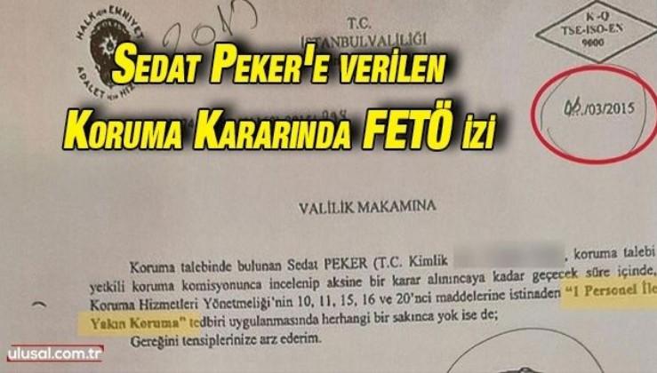 """Sedat Peker'e """"DHKP-C tehdidi"""" bahanesiyle verilen koruma kararında FETÖ izi"""