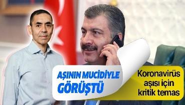 Son dakika: Sağlık Bakanı Fahrettin Koca, Prof. Dr. Uğur Şahin'le görüştü