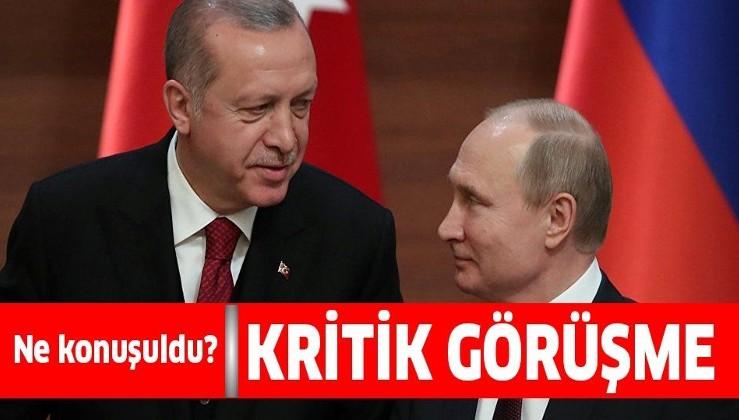 Cumhurbaşkanı Erdoğan Vladimir Putin ile görüştü