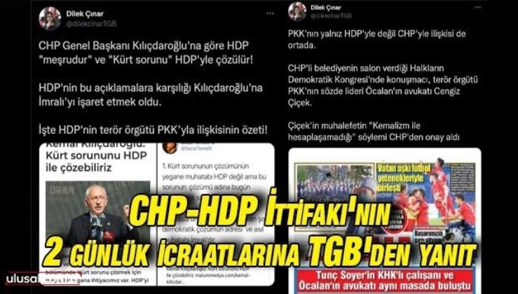 CHP-HDP İttifakı'nın 2 günlük icraatlarına TGB'den yanıt