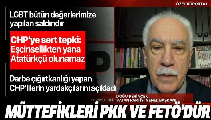 Doğu Perinçek'ten çarpıcı açıklamalar: Darbenin müttefikleri PKK ve FETÖ'dür