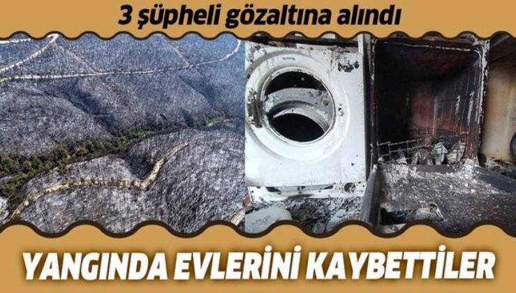 Adana'daki orman yangınıyla ilgili 3 kişi gözaltında