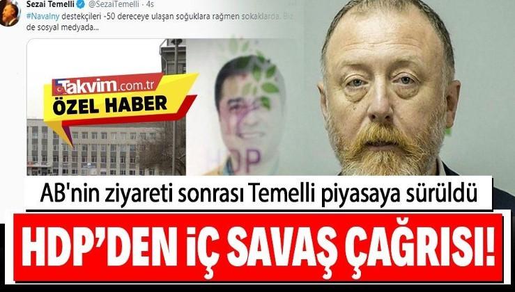 HDP'li Sezai Temelli, taraftarlarına Selahattin Demirtaş için sokak çağrısı yaptı! AB heyeti dün HDP'yi ziyaret etmişti...