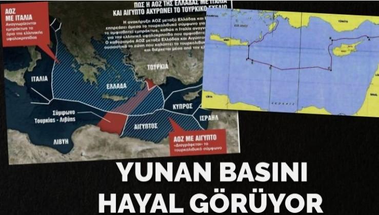 Yunan basını hayal görüyor… Türkiye'yi Akdeniz'de nasıl sıkıştıracaklarmış!