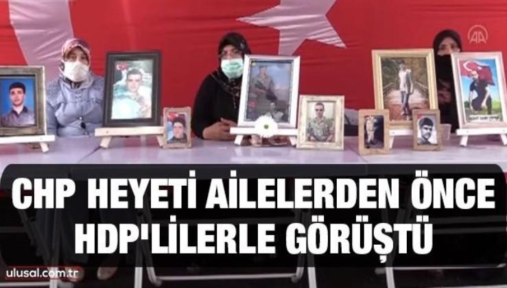 CHP heyeti ailelerden önce HDP'lilerle görüştü