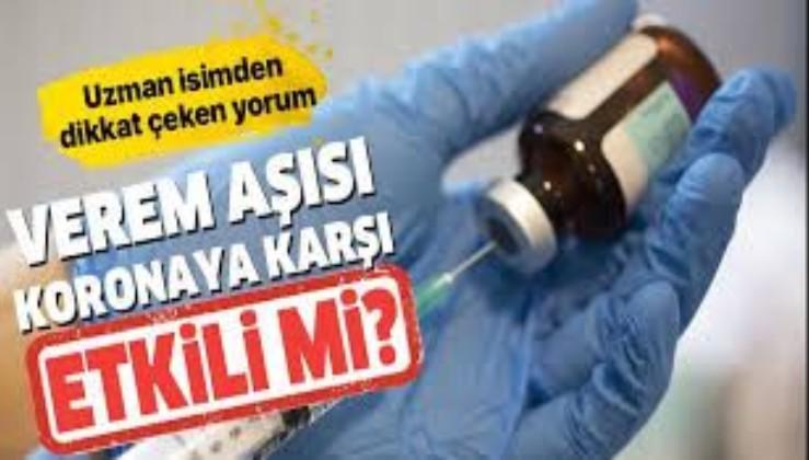 Verem aşısı Koronavirüs'e karşı koruyucu mu? Virüsü engelliyor mu? Prof. Dr. Mehmet Ceyhan açıkladı