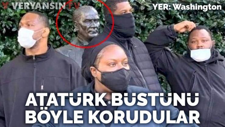 ABD'de siyahiler Atatürk büstünü korudu