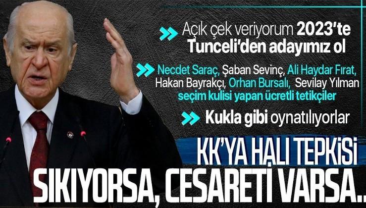 MHP Lideri Devlet Bahçeli'den CHP Genel Başkanı Kemal Kılıçdaroğlu'na sert tepki!