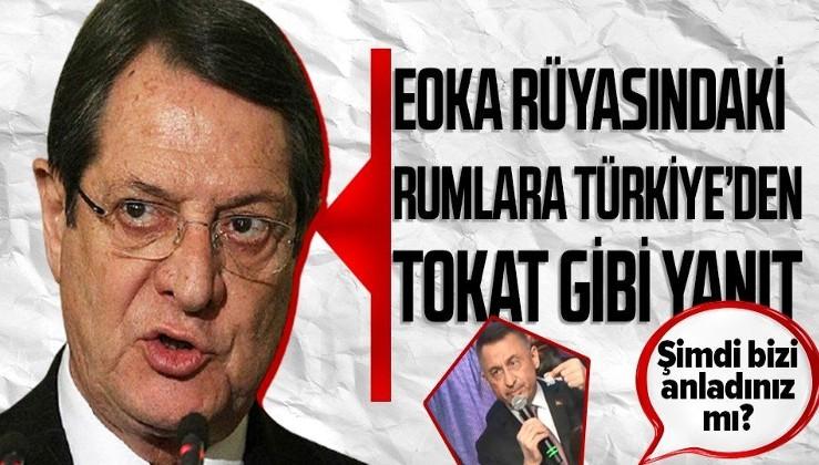 Rum kesiminin EOKA provokasyonuna Türkiye'den sert yanıt! Cumhurbaşkanı Yardımcısı Fuat Oktay: Şimdi bizi anladınız mı?