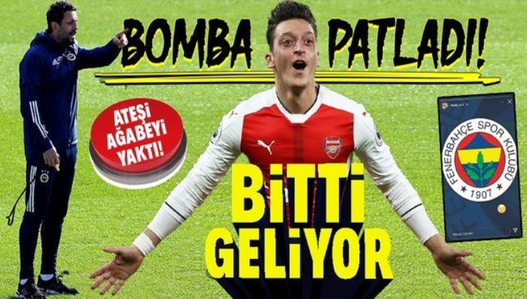 Fenerbahçe yılın transferi için geri sayıma geçti! Mesut Özil jetle İstanbul'a