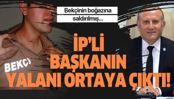 İYİ Parti Ankara İl Başkanı Yetkin Öztürk'ün yalanı ortaya çıktı! Bekçinin boğazına saldırılmış