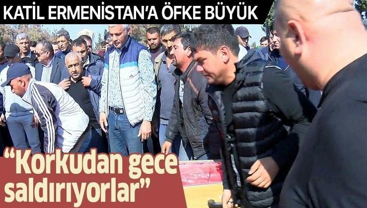Gence'deki saldırıda sevdiklerini kaybeden halk işgalci Ermenistan'a öfke kustu