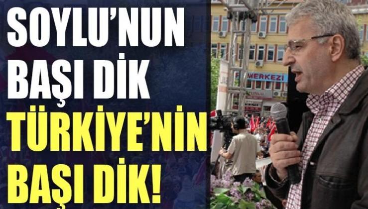 Şair Hüseyin Haydar: Soylu'nun başı dik, Türkiye'nin başı dik!