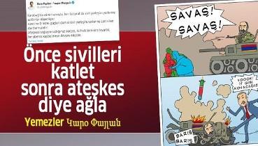 """Ermenistan'ın sivil katliamına sessiz kalan HDPKK'lı Garo Paylan, Azerbaycan intikam alınca """"ateşkes"""" diye ağlamaya başladı"""