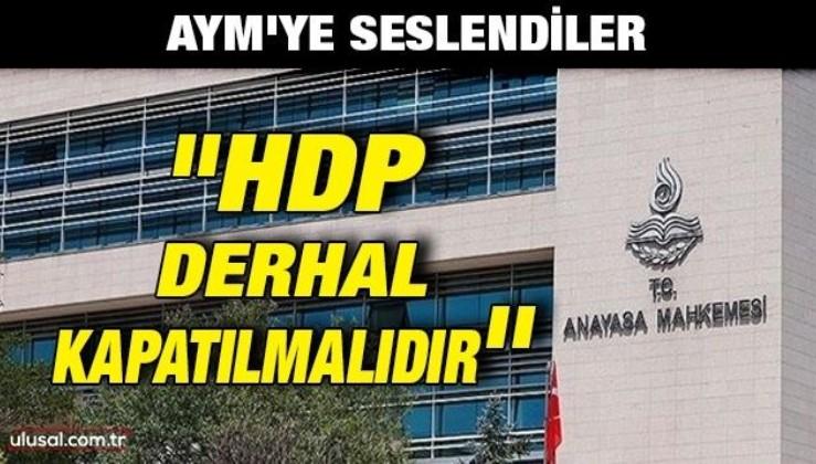 AYM'ye seslendiler: ''HDP derhal kapatılmalıdır''