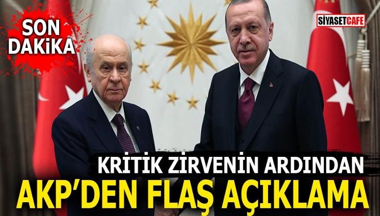 Erdoğan-Bahçeli zirvesinin ardından Ak Parti'den flaş açıklama