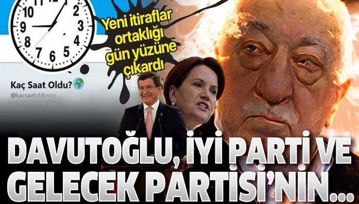 FETÖ hesabı @kacsaatolduson'un sahibinden yeni itiraflar: Davutoğlu, İYİ Parti ve Gelecek Partisi'nin paylaşımlarını 'rt' talimatı verildi