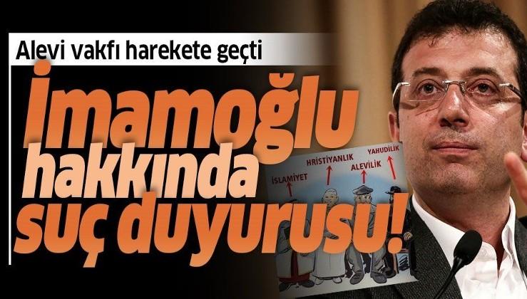 Son dakika: Türkmen Alevi Bektaşilerden Ekrem İmamoğlu hakkında suç duyurusu