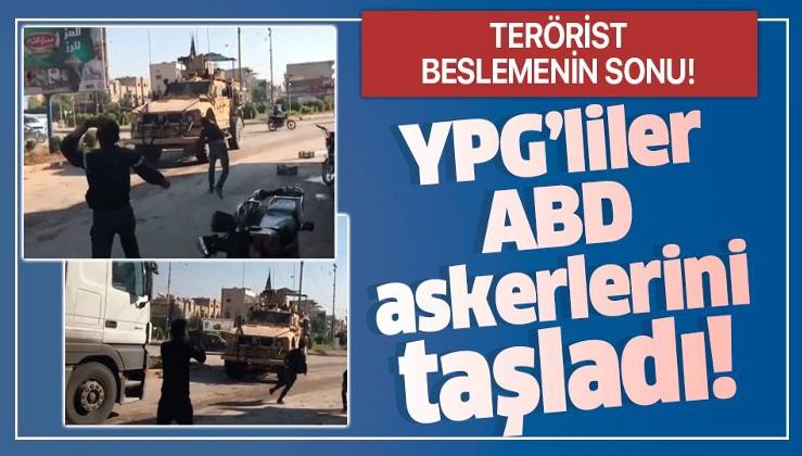Terörist beslemenin sonu: Kamışlı'da YPG'liler Amerikan askerlerini taşladı.