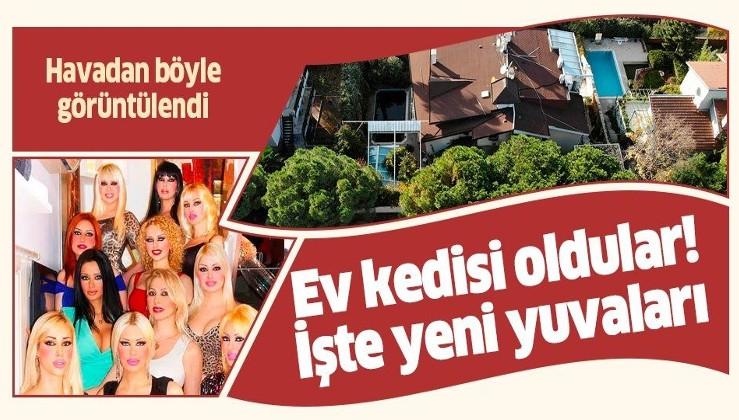 Adnan Oktar'ın tahliye olan 'Kedicik'lerinin kaldığı villa havadan böyle görüntülendi.