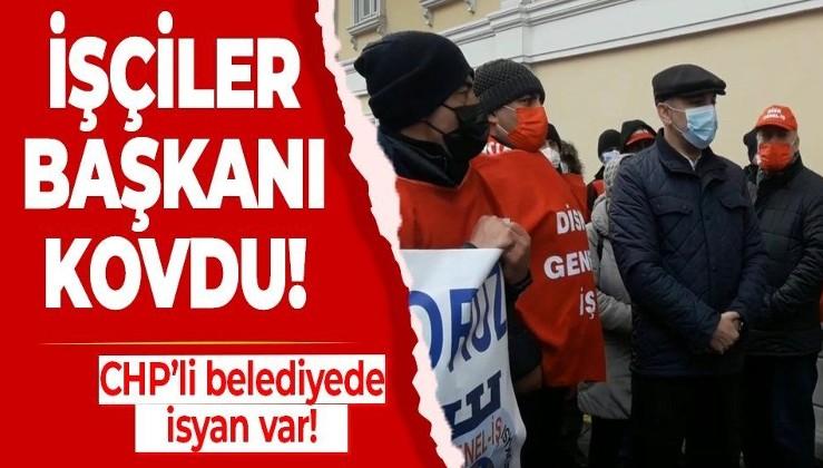 CHP'li Bakırköy Belediyesi'nde isyan var! İşçiler Başkan Bülent Kerimoğlu'nu kovdu!