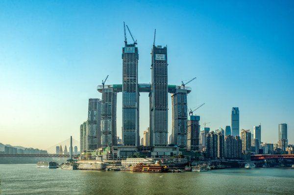 Çin, yatay gökdelenin inşaatında sona yaklaştı
