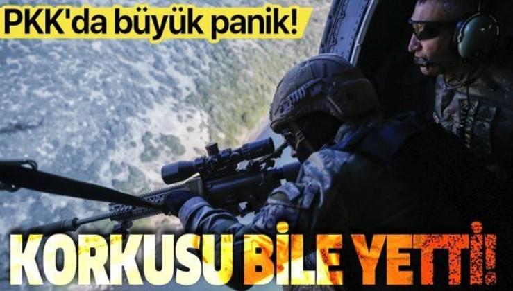 Üst düzey teröristlerin tek tek etkisiz hale getirilmesinin ardından PKK'da büyük panik! Darmadağın oldular