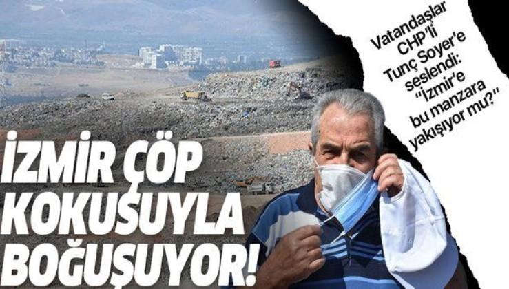 """İzmir çöp kokusuyla boğuşuyor! Vatandaşlar isyan etti """"İzmir'e bu manzara yakışıyor mu?"""""""