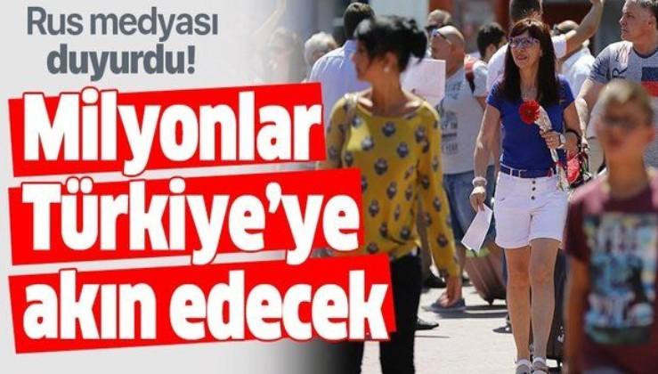 Rus medyası duyurdu! Milyonlarca Rus turist Türkiye'ye akın edecek