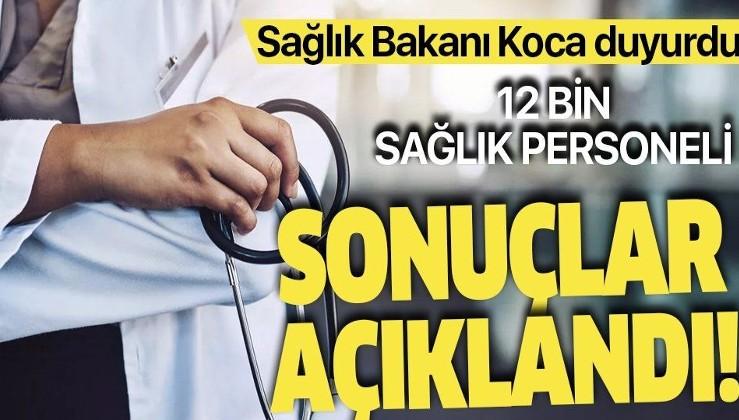Son dakika: 12 bin sözleşmeli sağlık personeli alım sonuçları açıklandı! Müjdeli haberi Bakan Koca verdi