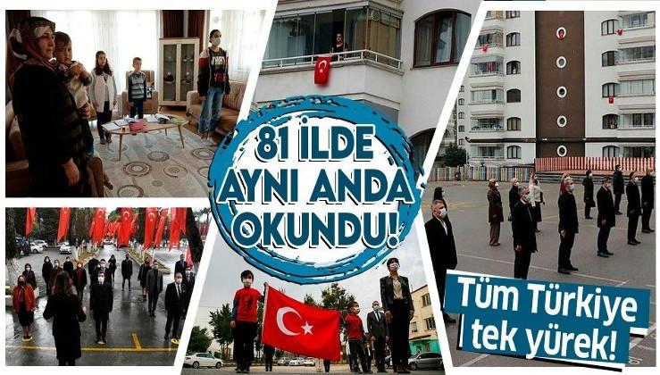 SON DAKİKA: 81 ilde aynı anda İstiklal Marşı okundu!