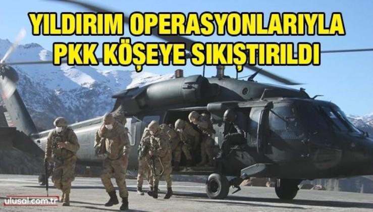 Yıldırım Operasyonlarıyla PKK köşeye sıkıştırıldı