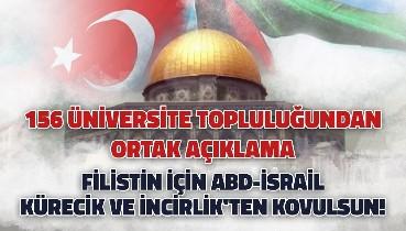 156 Üniversite topluluğundan ortak açıklama:Filistin İçin ABD-İsrail Kürecik ve İncirlik'ten Kovulsun!