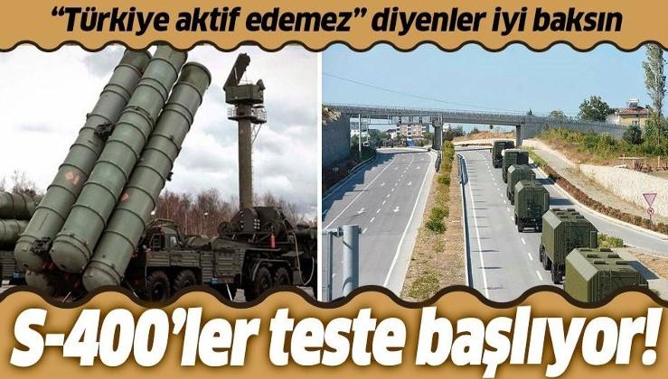 Türkiye S-400'leri aktif edemez diyenler iyi baksın! Türkiye Sinop yakınlarında test yapacak...