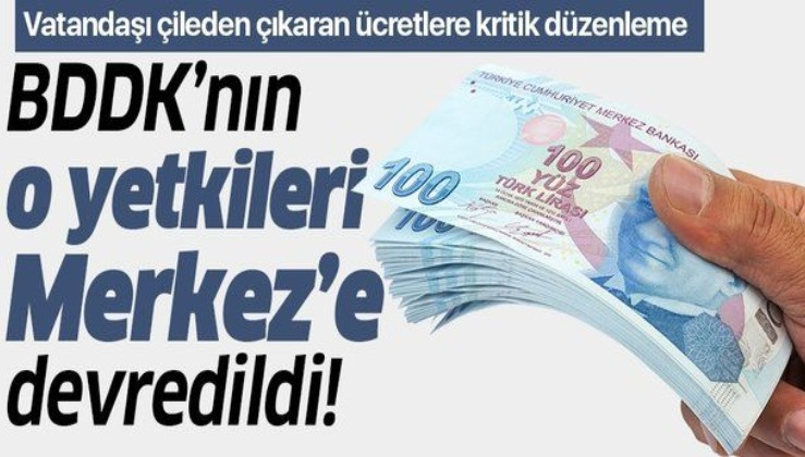 Resmi Gazete'de yayımlandı! BDDK'nın o yetkileri Merkez Bankası'na devredildi!