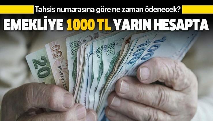 Emekliye 1000 lira yarın hesapta | Kim ne zaman alacak? İşte tahsis numarasına göre ikramiye ödeme takvimi