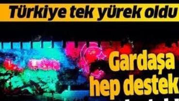 Gardaşa hep destek tam destek: Nevşehir Kalesi'ne ışıklarla Azerbaycan ve Türk bayrağı yansıtıldı