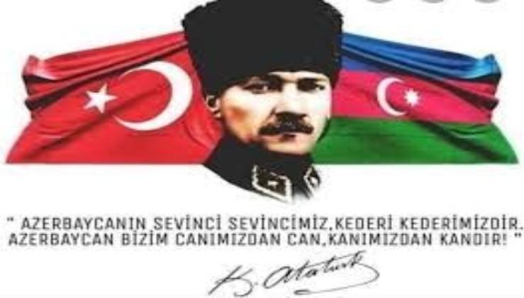 Tek millet, iki devlet. Bugün Azerbaycan'ın İzmir'i kurtuldu, sevinçliyiz.